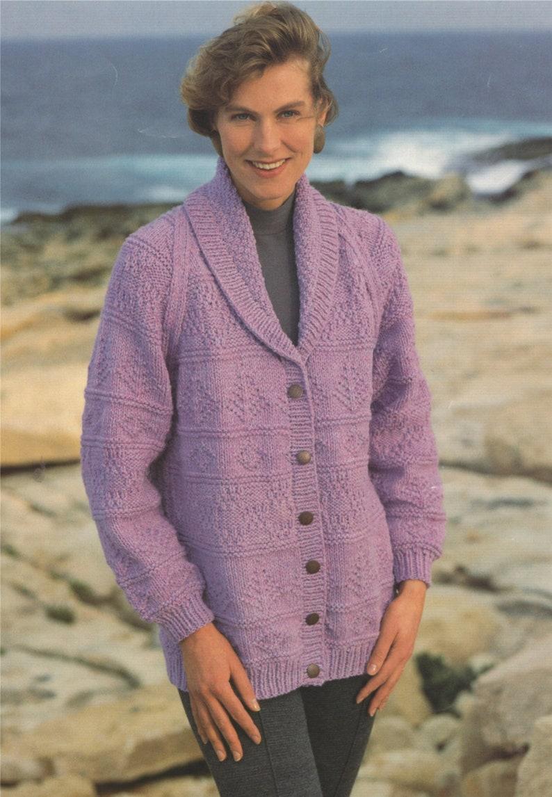 0cec8b6fc Womens Jacket Knitting Pattern PDF Ladies 32 34 36 38
