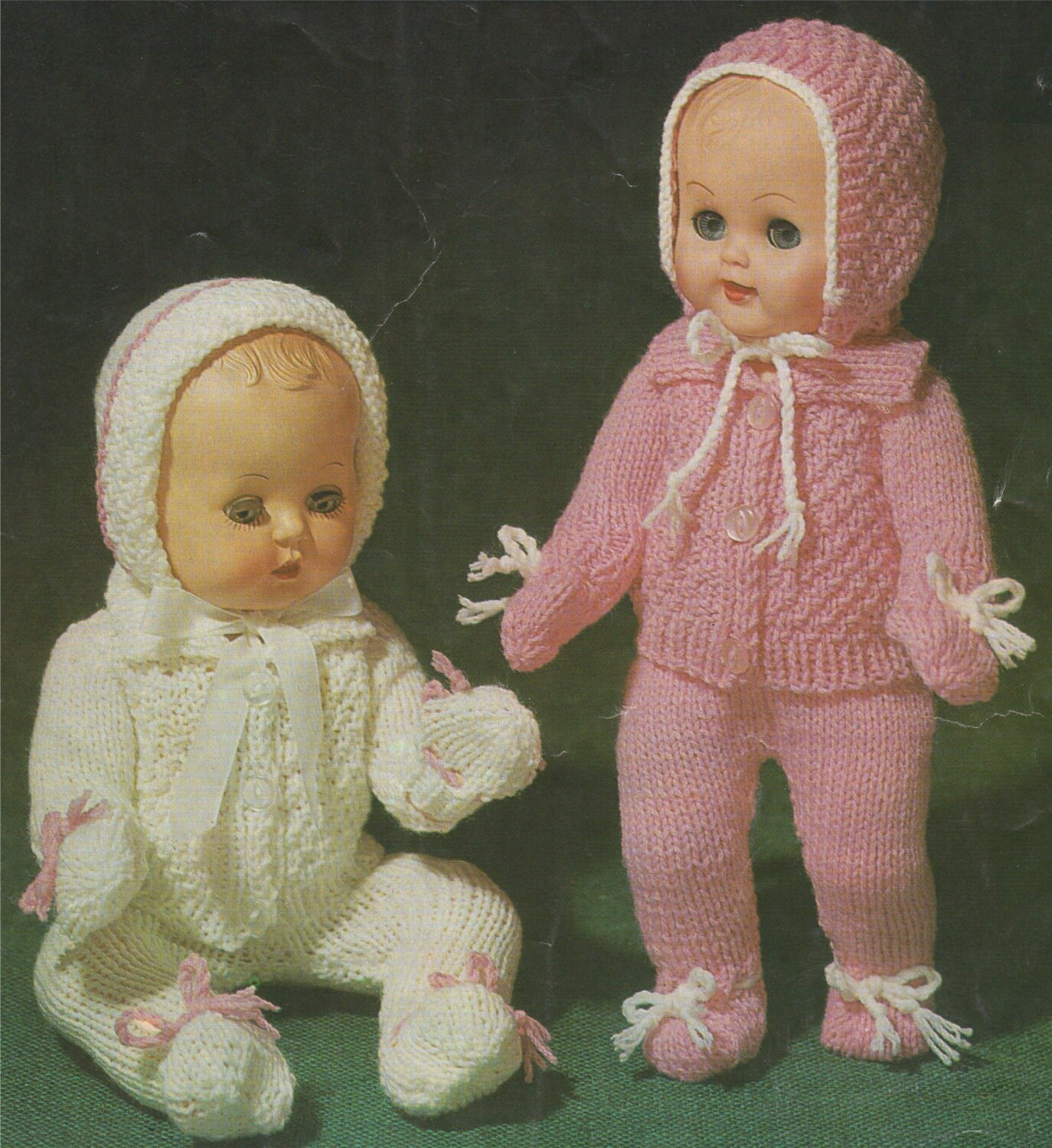 ac2054104 Dolls Clothes Knitting Pattern PDF for 10
