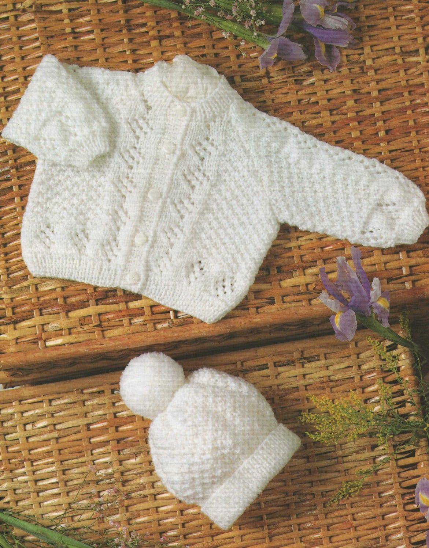 5debb704d Premature Baby Cardigan and Hat Knitting Pattern PDF Newborn ...