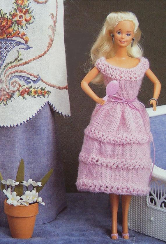 Poupées Vêtements Tricot Patron Pdf Pour 11 12 Pouces De Poupée Barbie Sindy Mode Poupées Tenue Patrons Tricot Pour Poupées