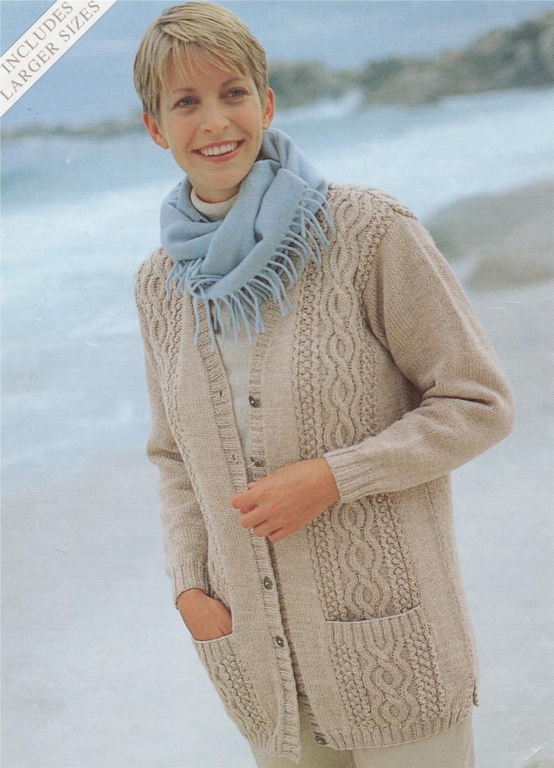30cc4b5ba296 Womens Cardigan Knitting Pattern PDF Ladies 32 34 36 38