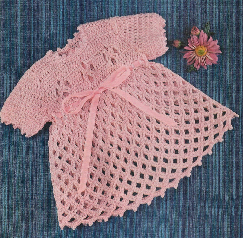 4c3f4b94e15b Baby Girl Dress Crochet Pattern PDF : Babies Toddlers 18 and 20 inch ...