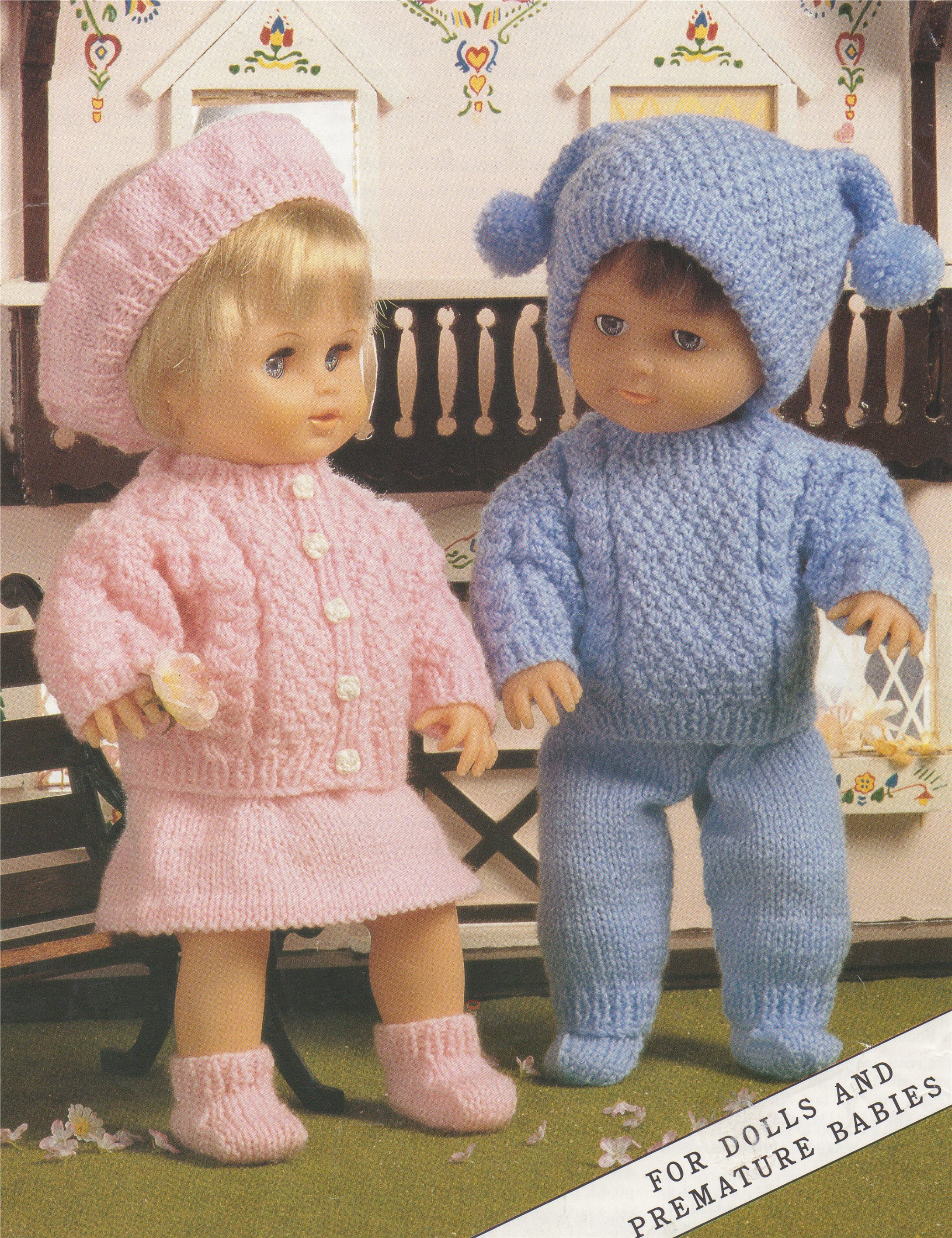 Dolls Clothes Knitting Pattern Pdf 12 14 15 18 And 19 22 Inch High Dolly Vintage Patterns For Your Doll E Download