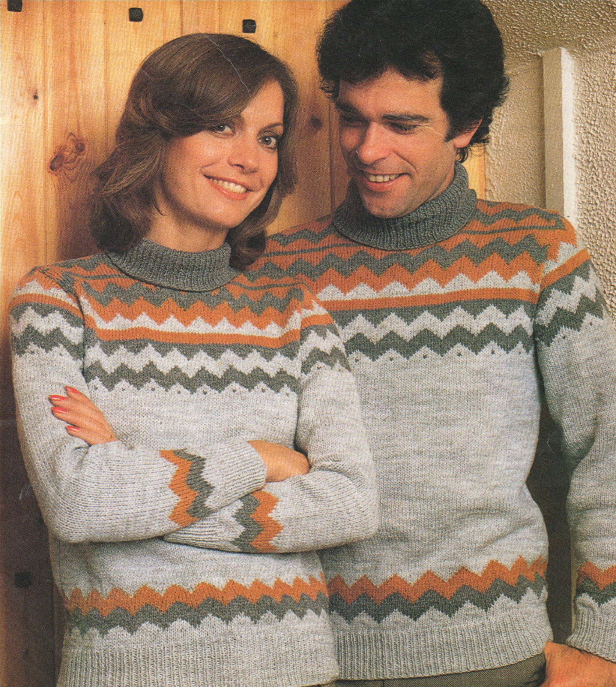 776df2f73 Womens and Mens Fair Isle Sweater Knitting Pattern PDF Ladies and ...