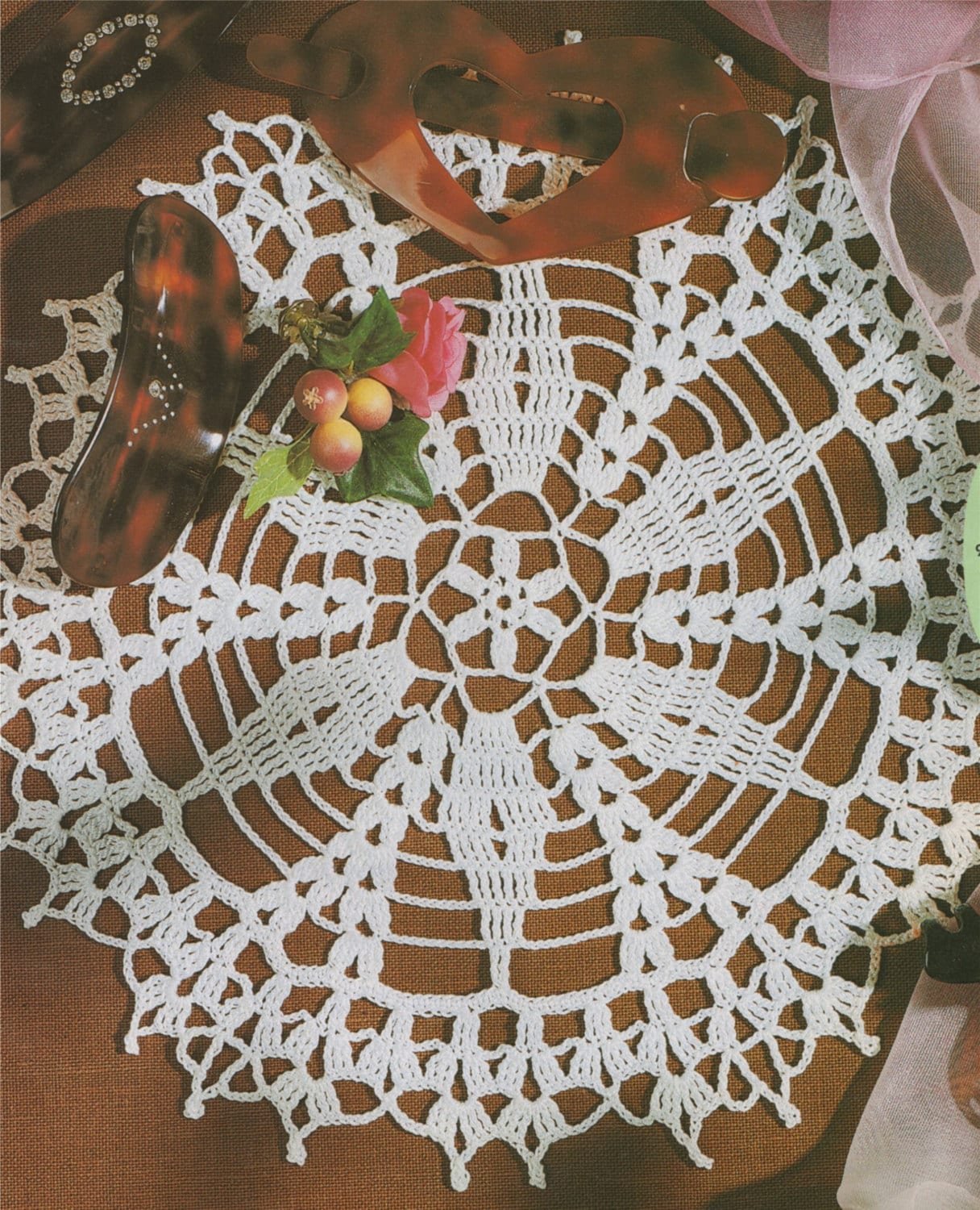 Doily Crochet Pattern Pdf Table Mat Circular Placemat Round Table
