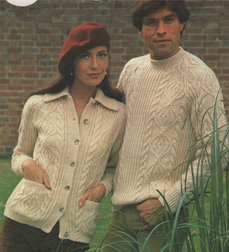 a7e7f6f0f730da Aran Sweater and Jacket Knitting Pattern PDF Mens and Ladies