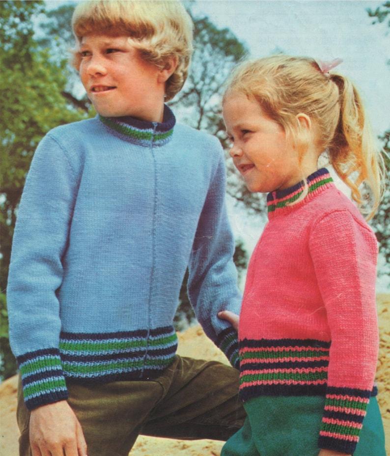 d00aafe38037 Childrens Zip Cardigan Knitting Pattern PDF Boys or Girls 26