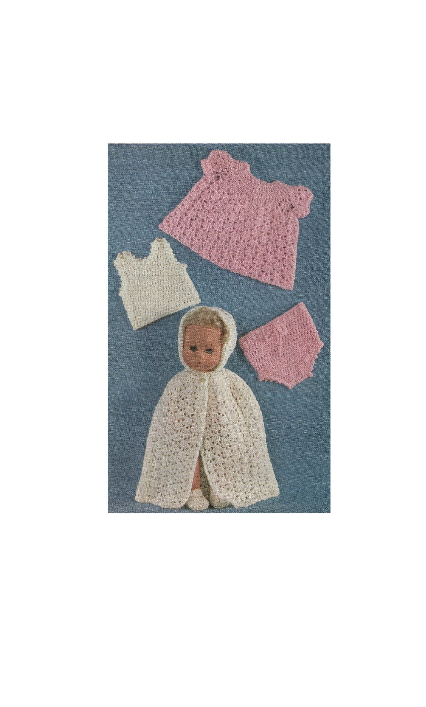 Dolls Clothes Crochet Pattern Pdf For 14 Inch Baby Doll Tiny Tears