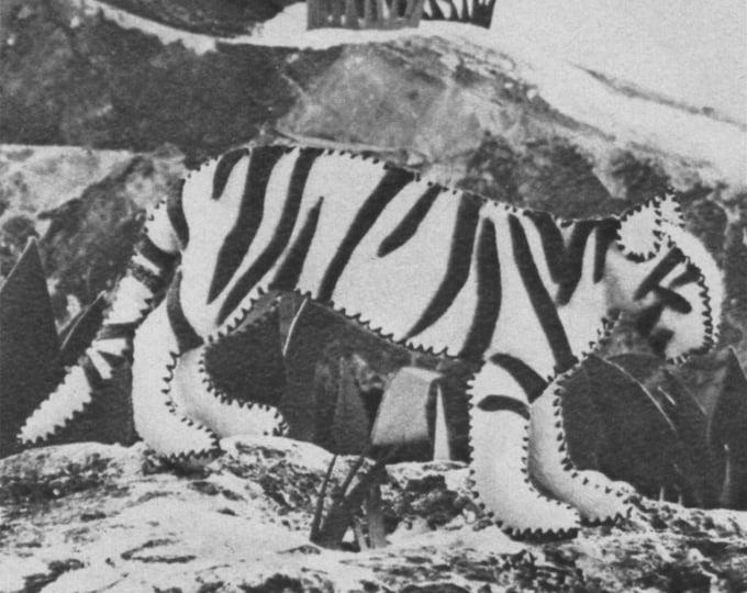 Wild Animals Felt Toy Sewing Pattern PDF Graph Pattern, Kangaroo, Tiger, Lion, Camel, Giraffe Classic Vintage Toy Patterns, Digital Download