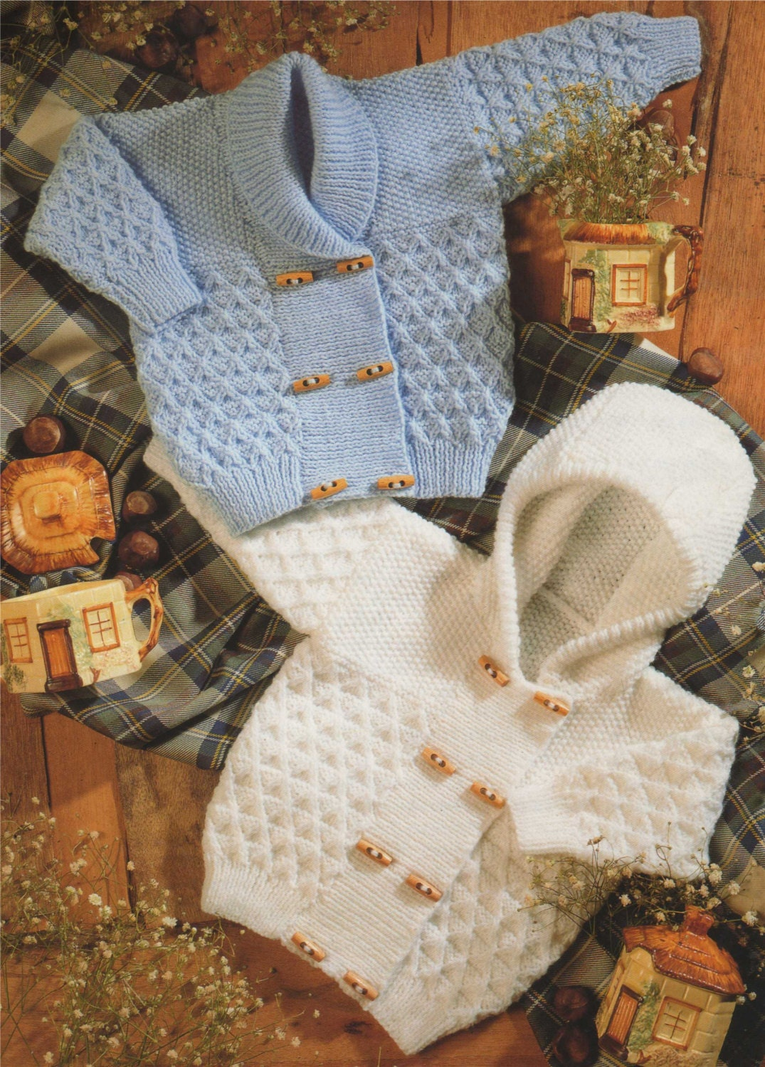 Baby / Toddler Hooded Jacket and Cardigan PDF Knitting Pattern : 18 ...