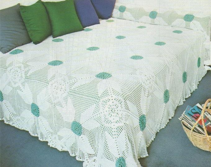 Bedspread Crochet Pattern PDF Crochet Blanket, Bedroom Throw, Bed Cover, Afghan, Vintage Crochet Patterns for the Home . e-patterns Download