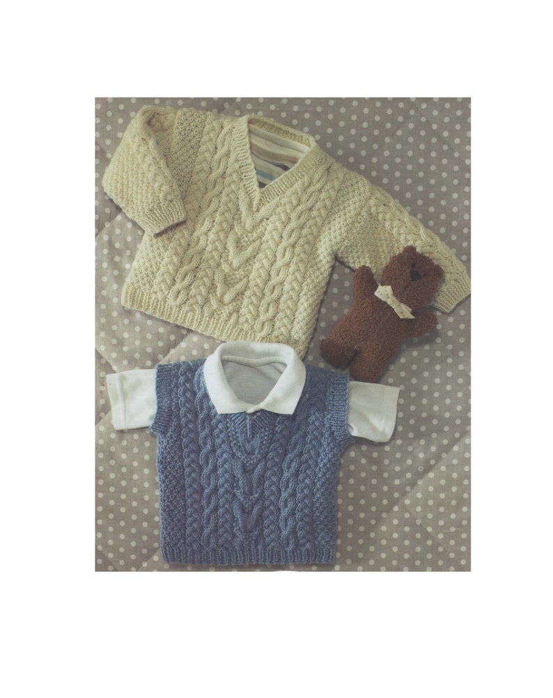 53296ad10c47 Childrens Sweater and Pullover Knitting Pattern PDF Boys or