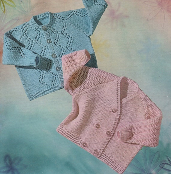 0de7b4ae3f80 Baby Cardigan Knitting Pattern PDF   Boys or Girls 20 inch