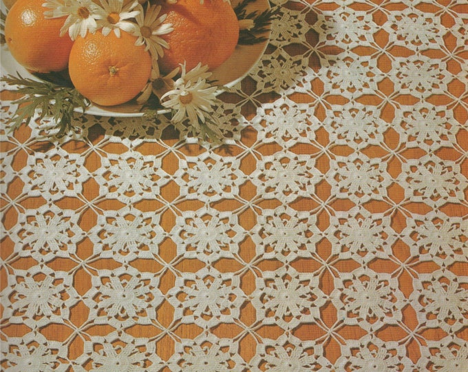 Square Doily Crochet Pattern PDF Doily Mat, Small Tablecloth, Table Runner, Table Linen Pattern, Vintage Crochet Patterns for the Home