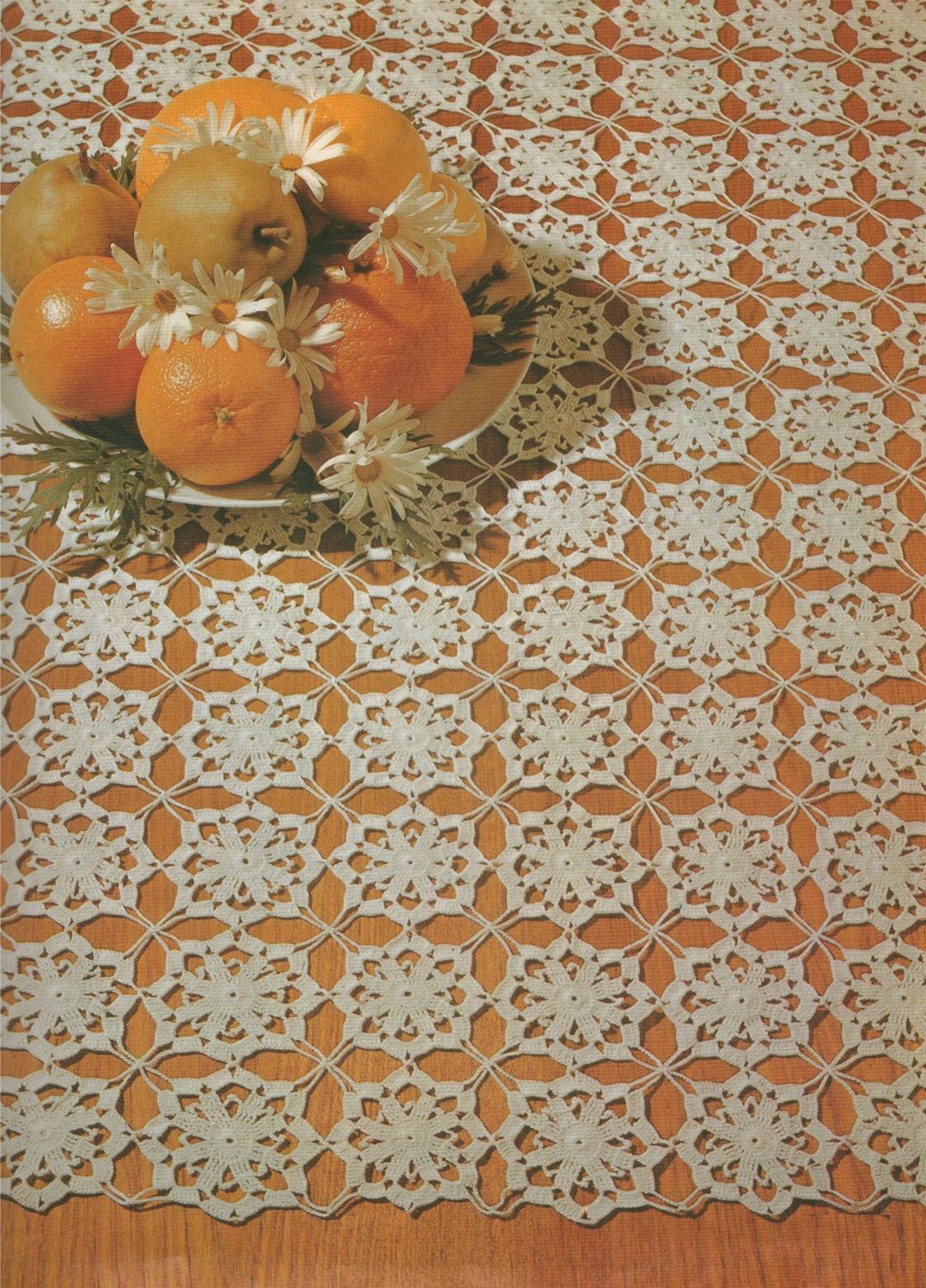 Square Doily Crochet Pattern Pdf Doily Mat Small Tablecloth Table