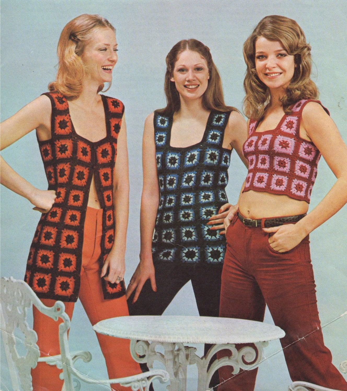 PDF Crochet Pattern Womens Top Pattern Ladies Granny Square Vest Digital Crochet Pattern Waistcoat
