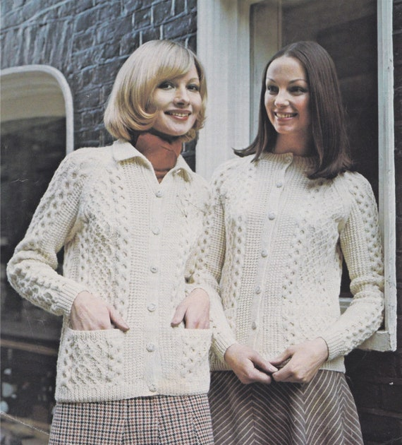 Vintage Knitting Pattern Ladies Classic Jacket//Coat Sizes 34 to 48 Inch Bust.