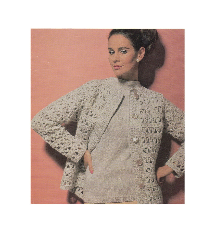 5083bc172 Womens Sweater Knitting Pattern and Jacket Crochet Pattern PDF ...