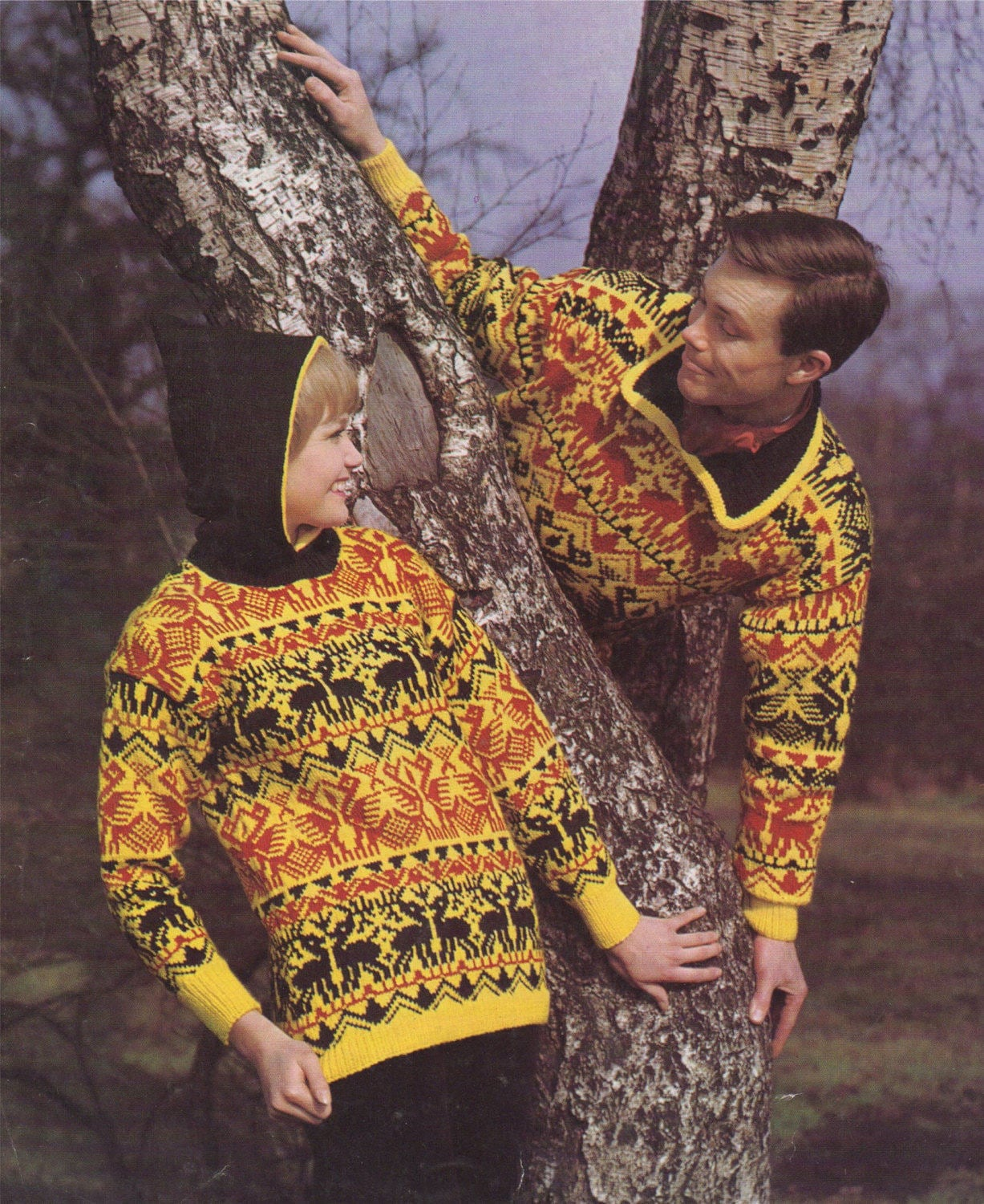 f72186454 Fair Isle Sweater Knitting Pattern PDF Womens and Mens 34 - 36 and 38