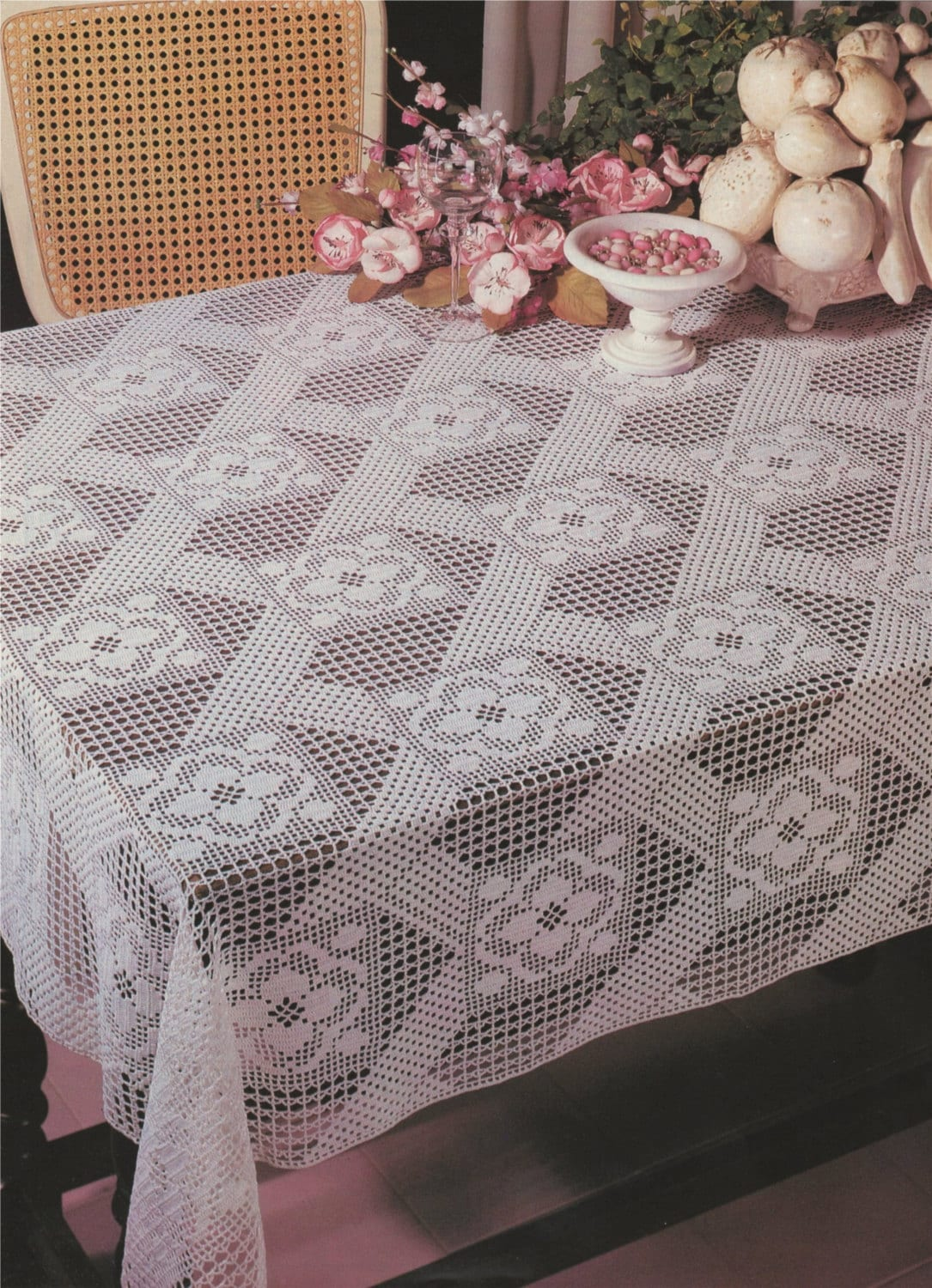 Table Cloth Crochet Pattern Pdf Tablecloth Table Cover Vintage