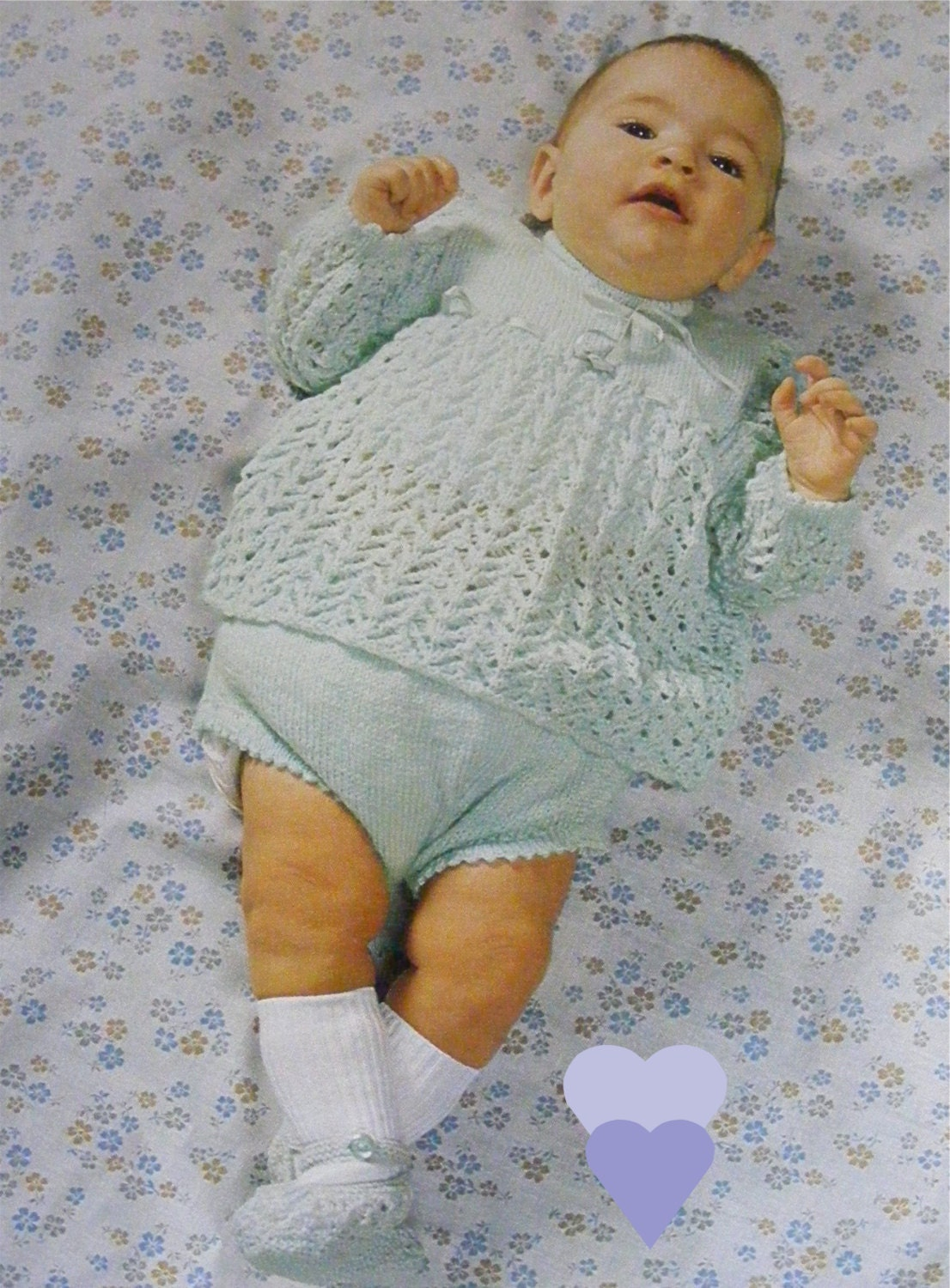78b9611e5 Baby Girls Knitting Pattern PDF Angel Top