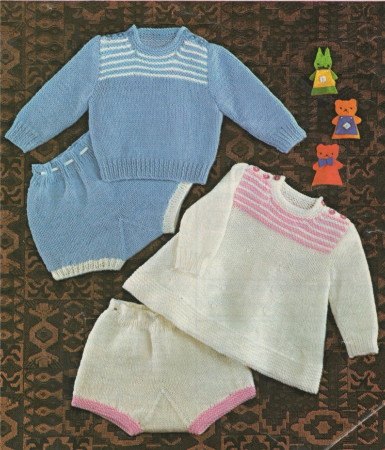 Baby Sweater Angel Top And Pants Pdf Knitting Pattern Etsy