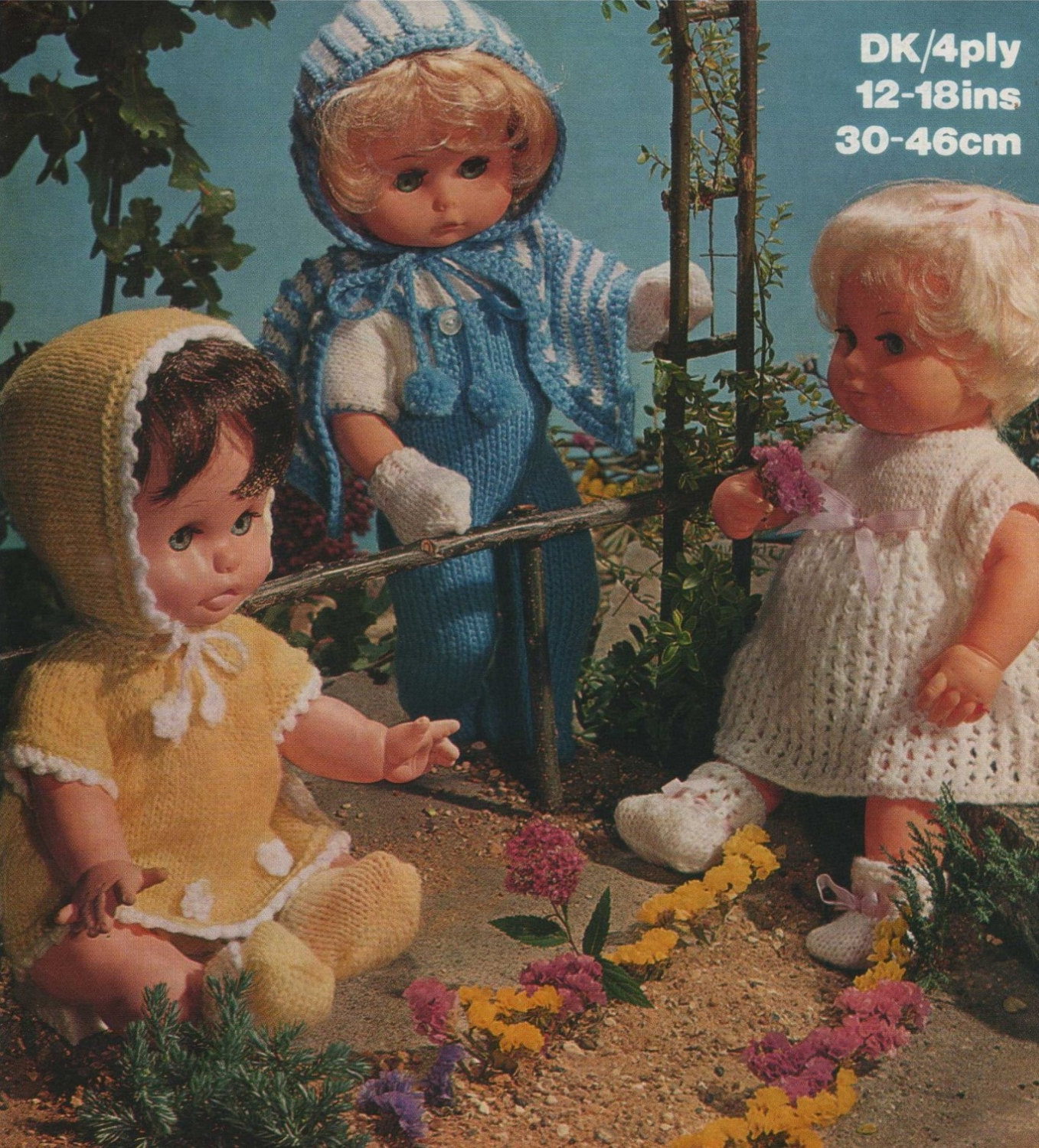Dolls Clothes Knitting Pattern PDF for 12, 14, 16 and 18 ...