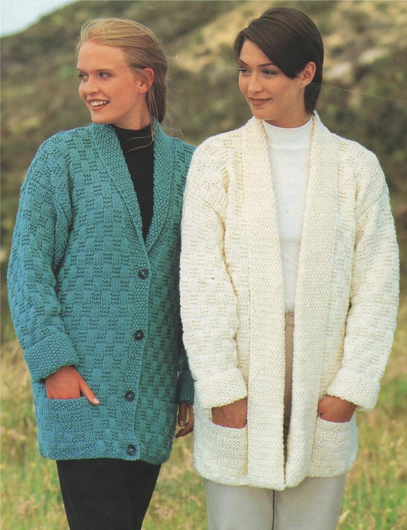 08a87b295 Womens Cardigan Knitting Pattern PDF Ladies 28 30 32 34