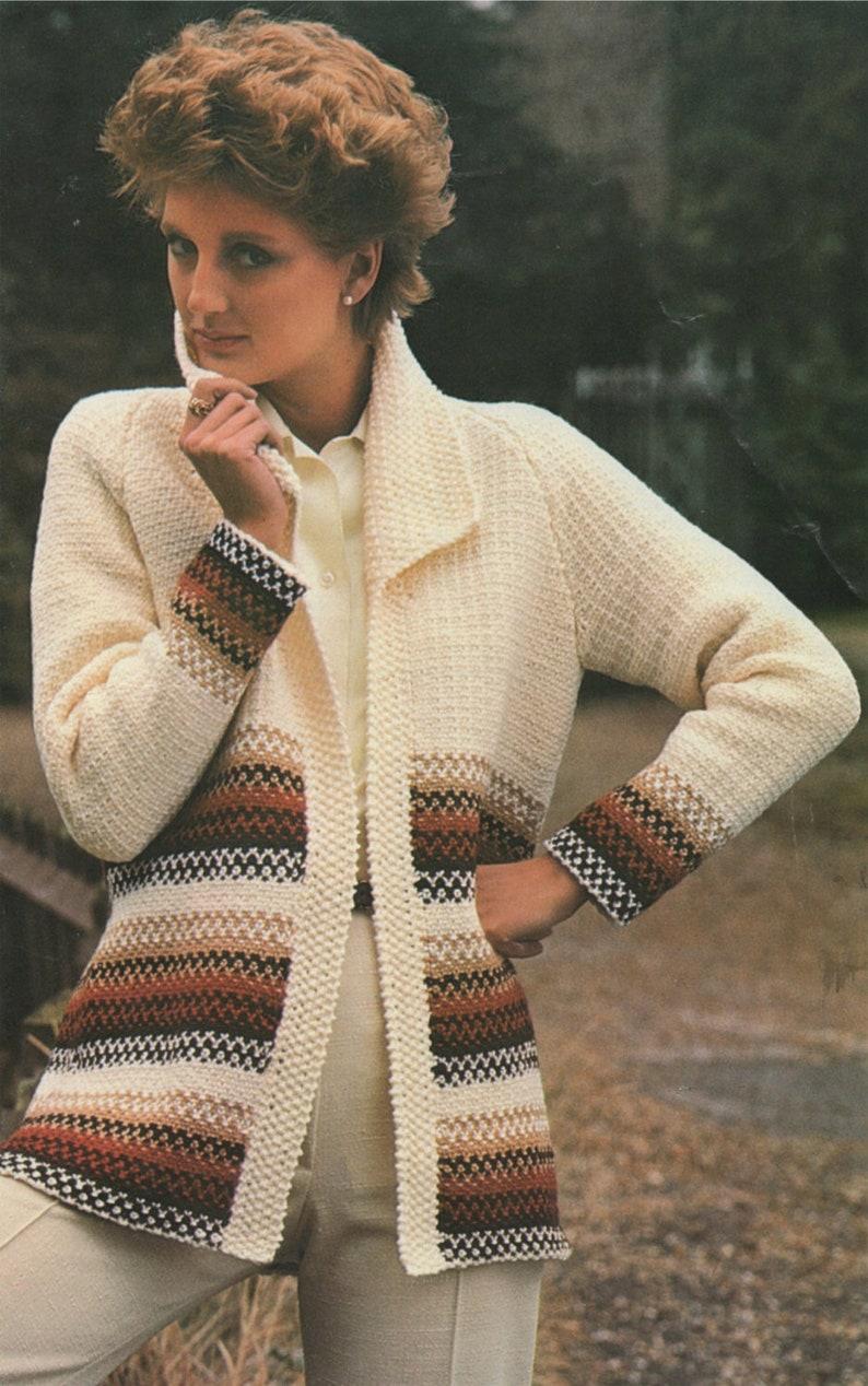 699775542df0 Womens Jacket Knitting Pattern PDF Ladies 32 34 36 38 and