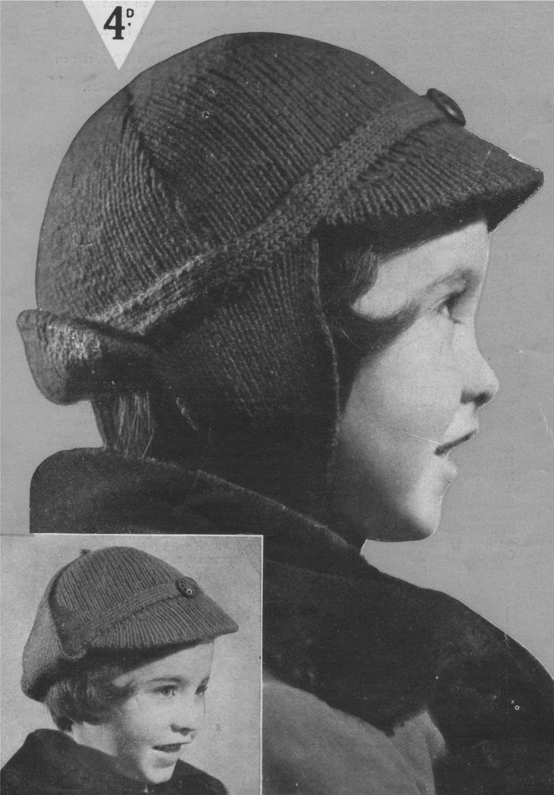 a6fb53ff014 Deerstalker Hat Knitting Pattern PDF Boys or Girls 2 5