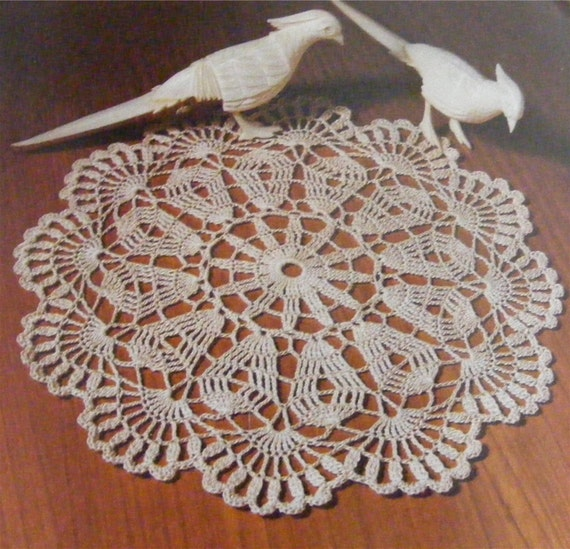 Doily Crochet Pattern Pdf Doilies Round Table Mat Circular Etsy