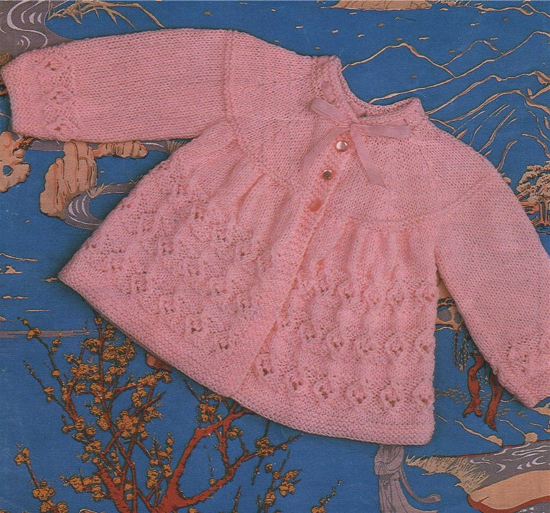 114968d69523 Babies Matinee Coat Knitting Pattern PDF Baby Girls or Boys