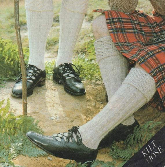 Mens Kilt Hose Socks Knitting Pattern PDF in 2 Designs Kilt | Etsy