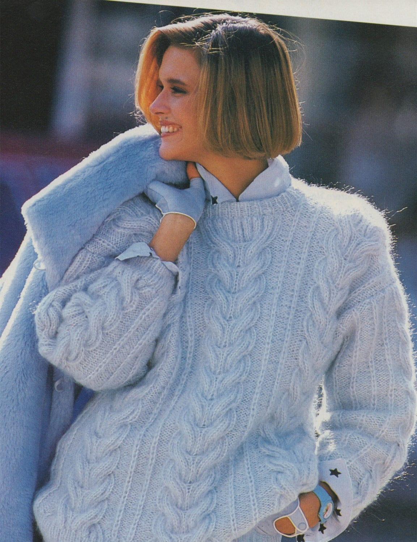 3bb909865 Womens Sweater Knitting Pattern PDF Ladies 33 - 34 inch bust ...
