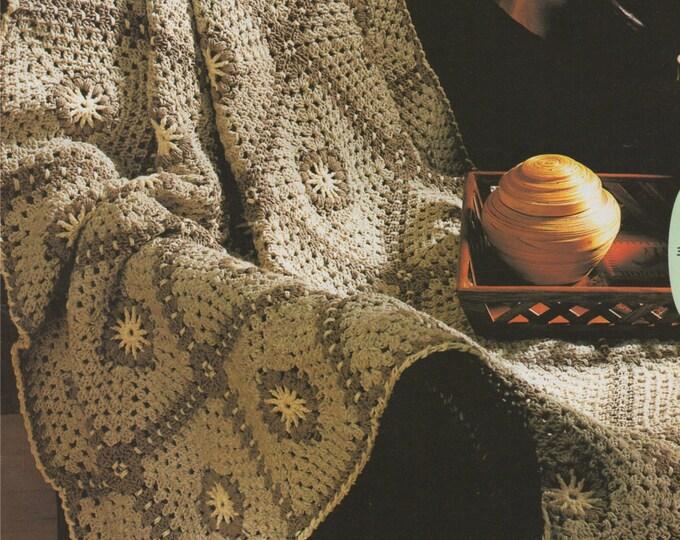 Crochet Throw Pattern PDF Crochet Blanket, Afghan, Lap Rug, Bedspread Cover, Cotton DK Yarn, Vintage Crochet Patterns for the Home, Download