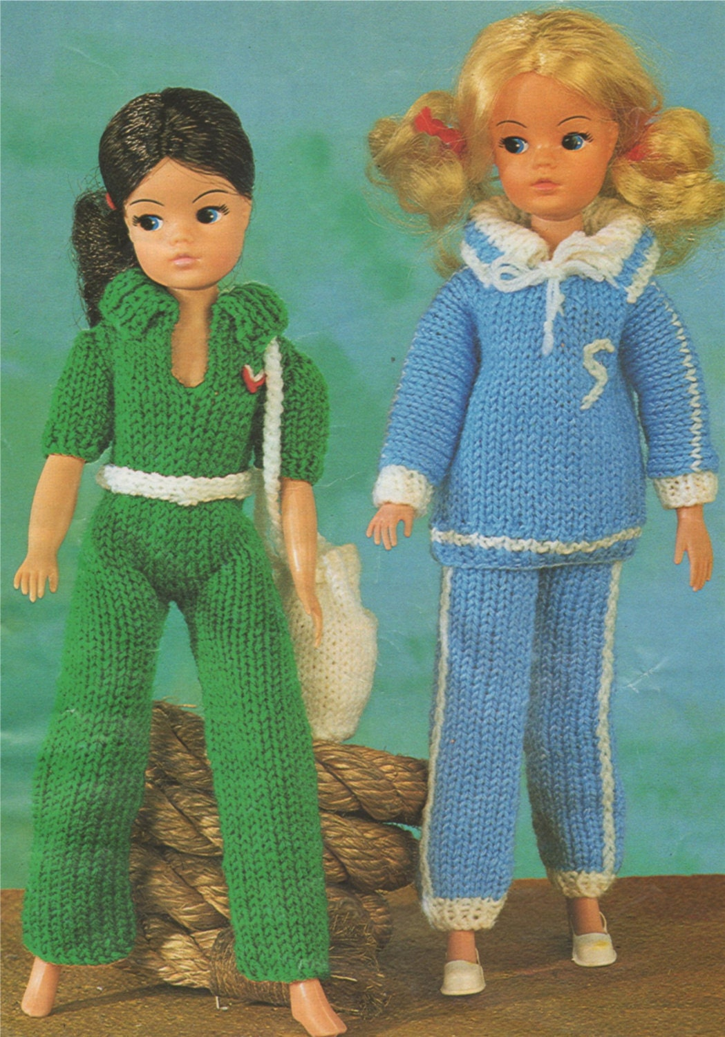 Dolls Clothes Knitting Pattern for 12 inch doll, Pant Suit ...