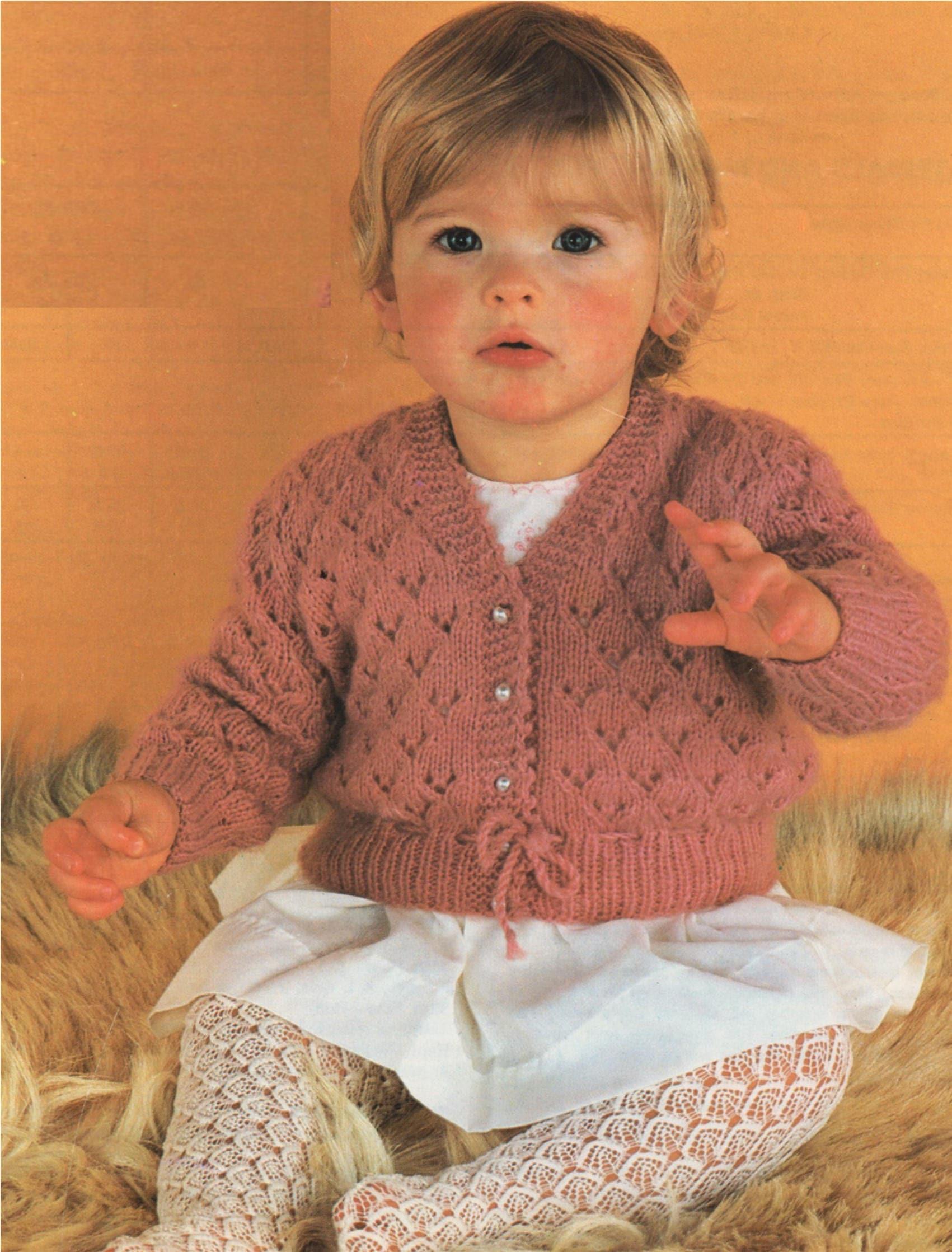 3e28788447c0 Girls Cardigan Knitting Pattern PDF Babys and Toddlers 18
