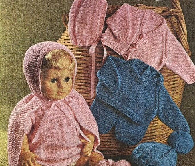 Dolls Clothes Knitting Pattern Pdf For 16 18 20 Inch Doll Tiny