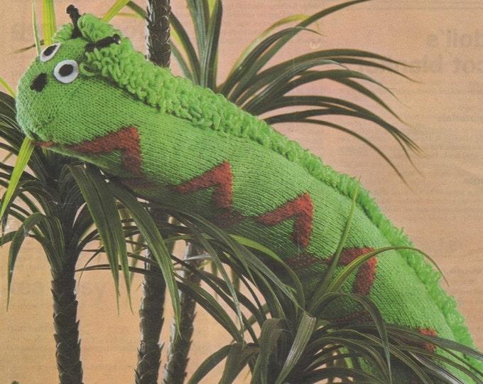 Caterpillar Draught Excluder Knitting Pattern PDF Soft Toy, Floor Cushion, Garden Cushion, Vintage Knitting Patterns for the Home and Garden