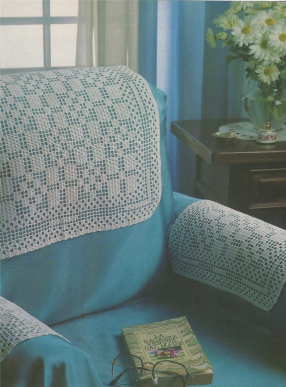 Antimacassars Pdf Crochet Pattern Chair Covers Sofa Covers