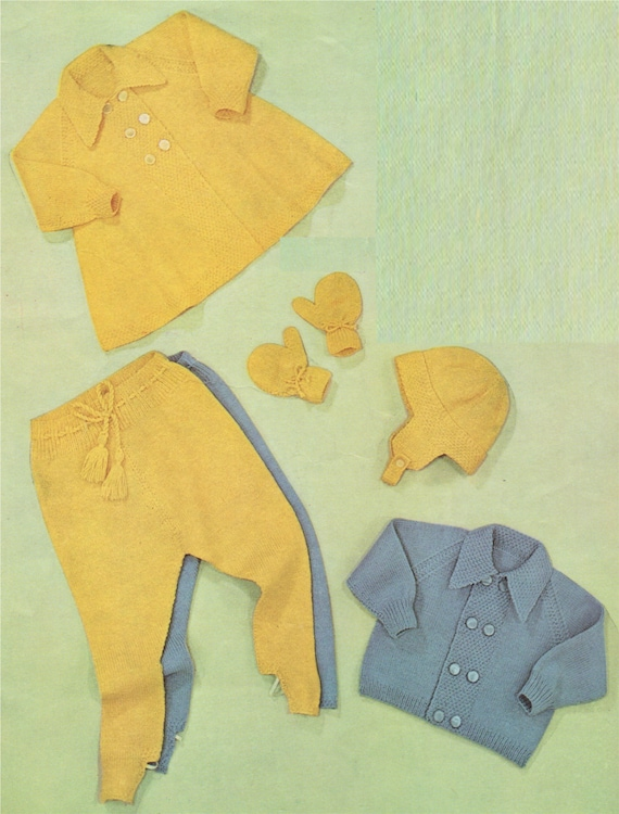 eee291a979a9 Baby Knitting Pattern PDF   Babies 12 18 months . Boys or