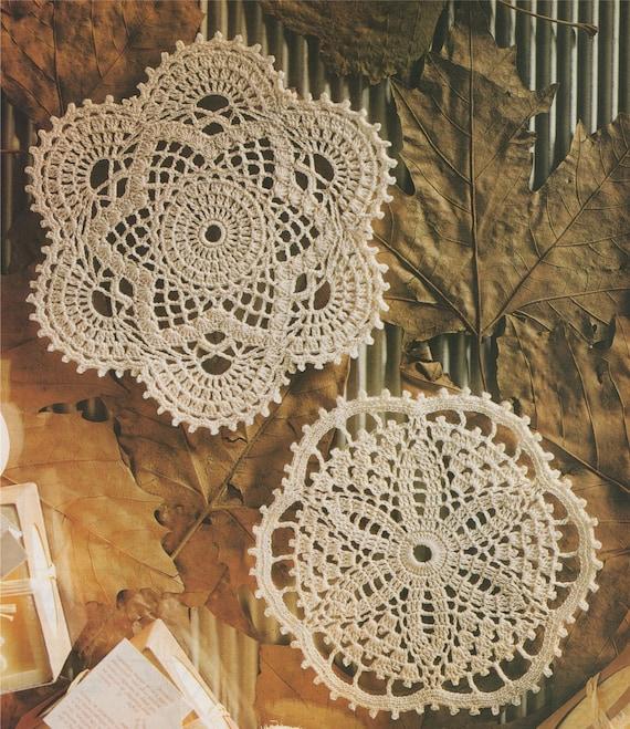 Doily Crochet Pattern Pdf 2 Designs Round Doily Mat Mandala Etsy
