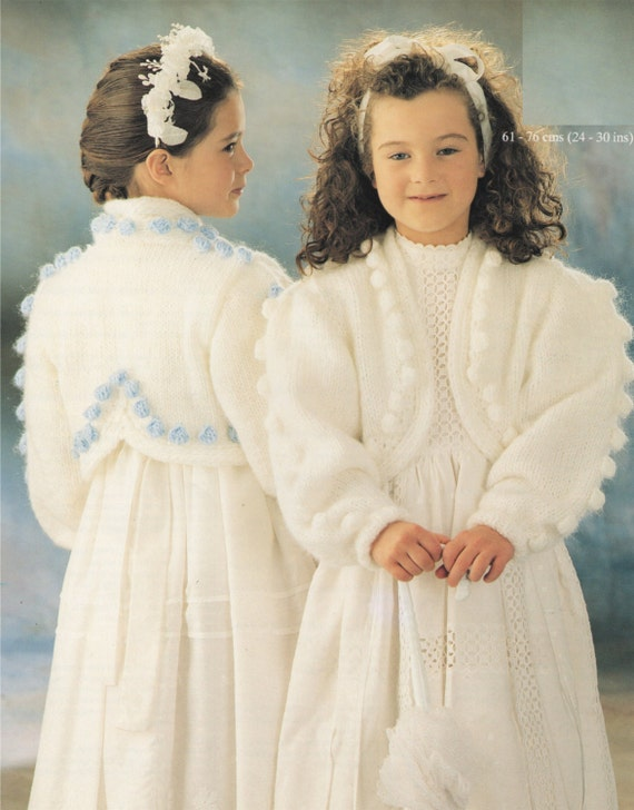 Girls Bolero Knitting Pattern Pdf Childrens 24 26 26 28 Etsy