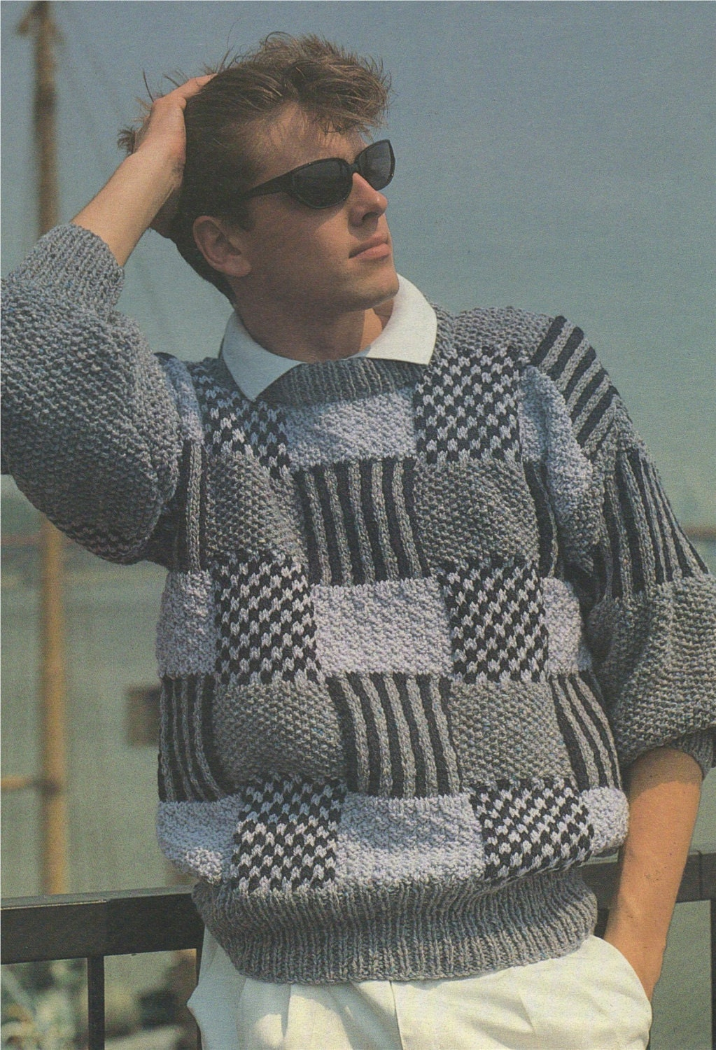 Mens Aran Sweater Knitting Pattern Pdf 32 34 36 38 And 40 42
