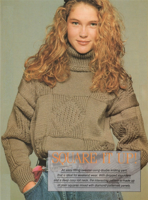 Womens Sweater Knitting Pattern Pdf Ladies 34 36 And 38 Inch Etsy