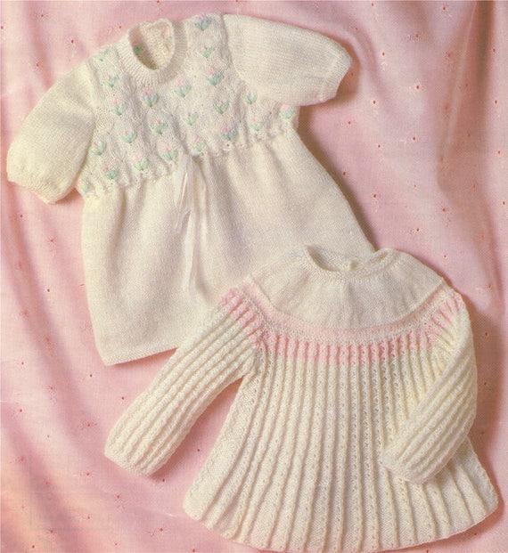 e6c634ccf9ca Baby Girls Dress and Angel Top Knitting Pattern PDF Babies 18