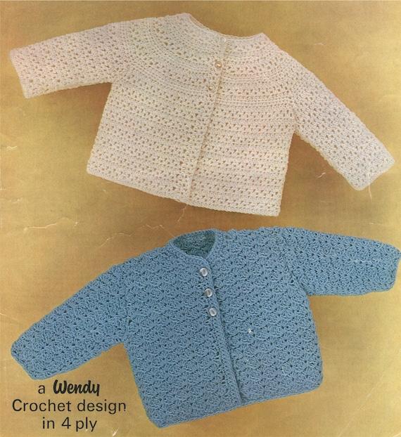 5f9f5e704 Babies Matinee Coat Crochet Pattern PDF in 2 Designs Baby