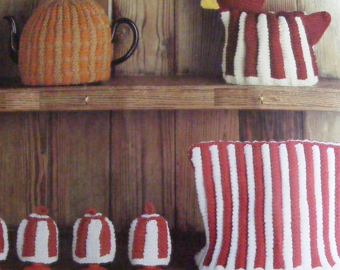 Tea Pot Cosy, Hen Egg Bowl Cover and Egg Cup Cosies Knitting Pattern PDF, Teapot Cover, Breakfast Kitchen Accessories, e-patterns Download