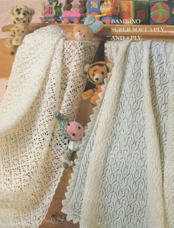db7c85407 Babies Shawl Crochet and Knitting Pattern PDF Baby Boys or Girls ...
