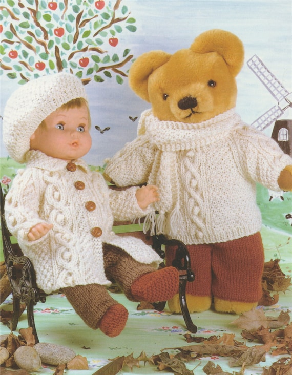 Dolls And Teddy Bears Clothes Knitting Pattern Pdf For 12 Etsy